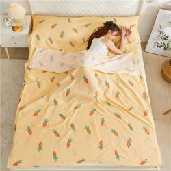 旅行之家 2021新款全棉旅行睡袋隔脏睡袋 胡萝卜