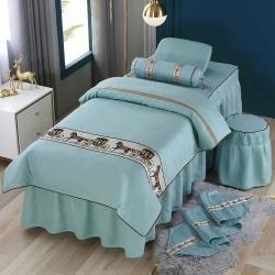 (总)不打烊家纺 2021新款雪芙妮美容床罩-马到成功