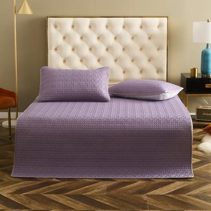 乐绮2021新款凉感丝乳胶凉席三件套空调席子 莫兰迪-婉约紫