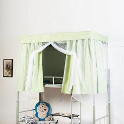 娜年时光 2021新学生宿舍加厚强遮光床帘蚊帐一体式浅绿星星