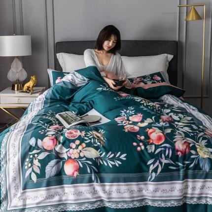 (总)乐童 2021新款60支长绒棉数码大阪花卉四件套