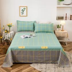 (总)博越家纺 2021新款老粗布床单凉席三件套