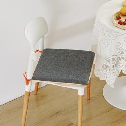 永光记忆棉实木餐桌椅子坐垫防滑布艺家用凳子垫子 黛瓦灰