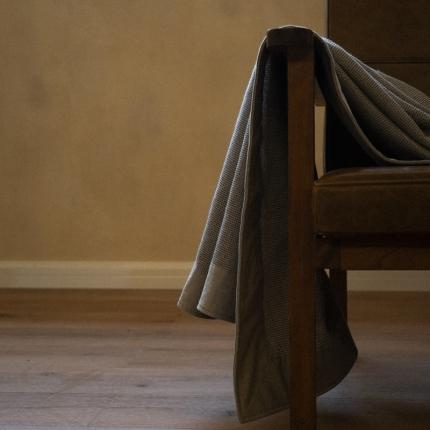 子和家居 2021新款全棉宽边华夫格毯 蓝色