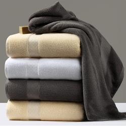 (总)紫树五星级酒店用品希尔顿授标全棉加大加厚强吸水毛巾浴巾