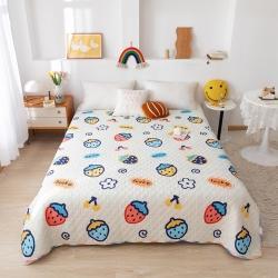 (总)欧邦 2021新款全棉水洗夹棉绗缝床盖