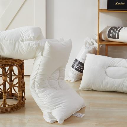 川岛奈良 出口日本新品枕芯枕头 全棉凹型太空护颈枕媲美羽绒枕