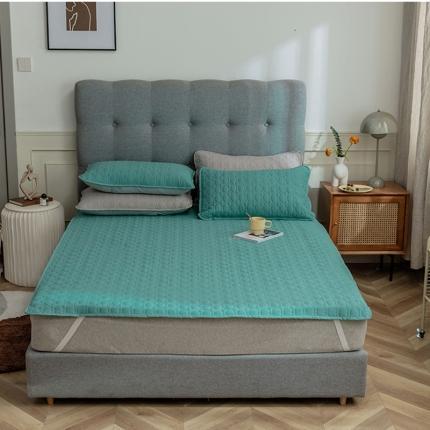 寐眠 2021新款夹棉床垫夹棉床笠 碧水绿夹棉床垫