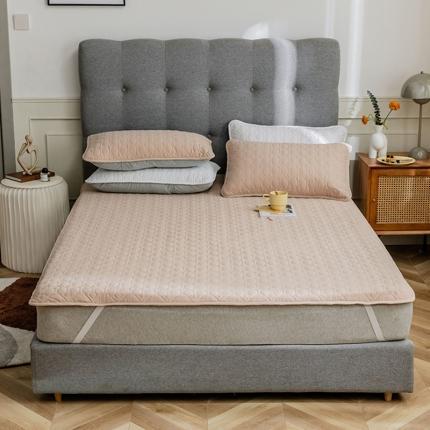 寐眠 2021新款夹棉床垫夹棉床笠 米咖色夹棉床垫