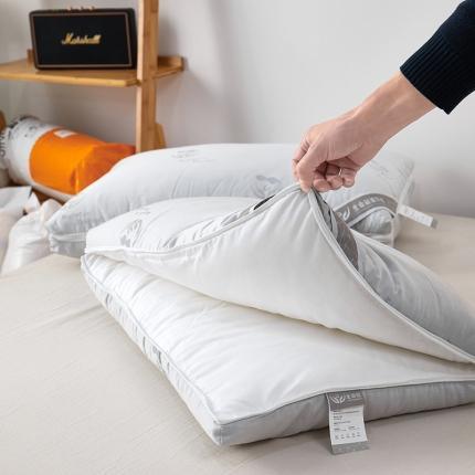 新款枕芯枕头 二合一生命磁循环枕 可拆卸可做双人枕 高中低枕
