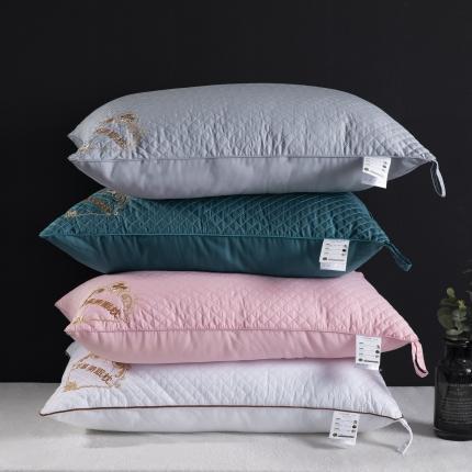 艾丽丝 艾草枕贡缎艾草抑菌羽丝美眠枕芯超柔舒适美眠枕四色可选
