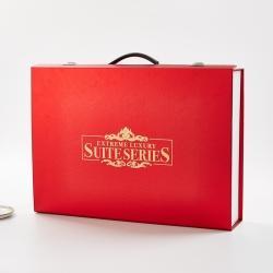 正大包装 红铝箔树叶纹礼盒包装51x36x10