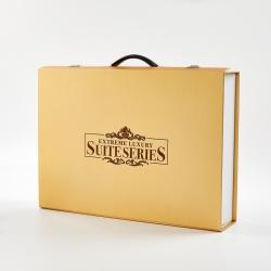 正大包装 金铝箔树叶纹礼盒包装51x36x10