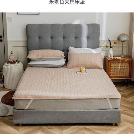 寐眠 2021新款夹棉床垫 米咖色夹棉床垫