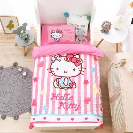 童爱(迪士尼家居馆)纯棉40支大版数码印花凯蒂猫幼儿园套件