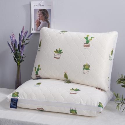 艾丽丝枕芯乳胶热熔枕芯可水洗枕头芯舒适助眠小清新热熔枕整张棉