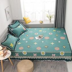 (总)冬然 2021新款全棉防滑榻榻米床垫炕盖纯棉床盖三件套