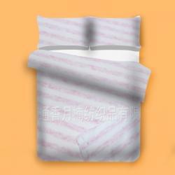 香月楠  色纺彩棉面料  粉色条纹