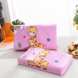 (总)一粒麦子枕芯枕头2021新品儿童全棉大版花乳胶枕
