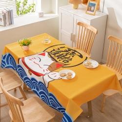 博笔熊 2021新款桌布 招财猫-黄