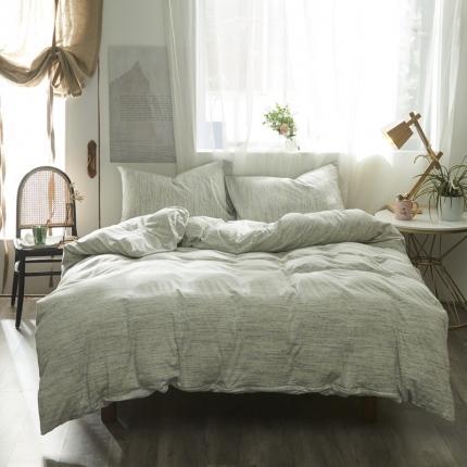 (总)简煦家居 2021新款全棉针织棉缎彩系列四件套