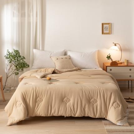 简煦 2021新款全棉针织百分百棉花被芯系列 针织棉-棕色