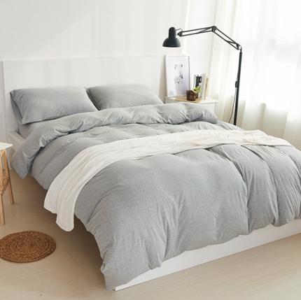 (总)简煦 2021新款全棉色纺针织棉条纹纯色套件系列1