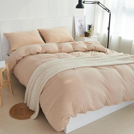 简煦 2021新款全棉色纺针织棉条纹纯色套件系列1 米粽纯色
