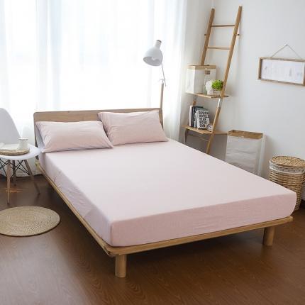 (总)简煦2021新款全棉色纺针织棉条纹纯色套件系列2单床笠