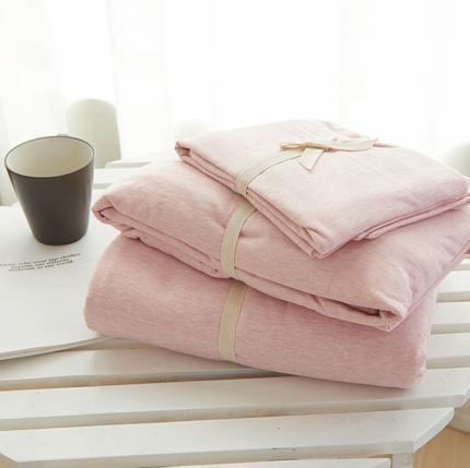 (总)简煦2021新款全棉色纺针织棉条纹纯色套件系列2单床单