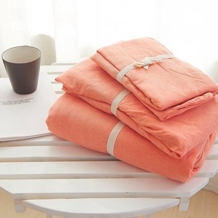 (总)简煦2021新款全棉色纺针织棉条纹纯色套件系列3单床单