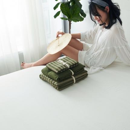 (总)简煦2021新款全棉色纺针织棉条纹纯色套件系列5单床单