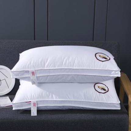艾丽丝枕芯 全棉贡缎立体小蜜蜂羽丝绒枕芯