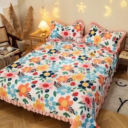 (总)红利莱 2021新款全棉夹棉床盖三件套