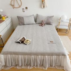 (总)飞达家居 新款魔力凉豆豆超速冷感凉席床裙款实拍图
