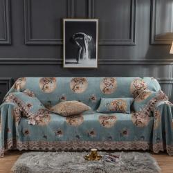 (总)柚米 沙发垫套坐垫子沙发套罩盖布欧式雪尼尔沙发巾
