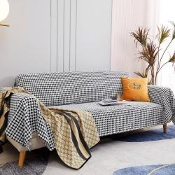 (总)柚米 沙发垫套坐垫子沙发套罩盖布千鸟格沙发巾