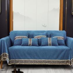 (总)柚米沙发垫套坐垫子沙发套罩盖布雪尼尔工字型沙发巾
