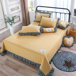 总OL床盖盖毯正反面13372全棉小碎花多功能四季被三四件套