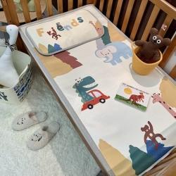 (总)橘滋家纺 2021新款高端A类婴幼儿可水洗冰丝凉席
