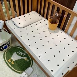 橘滋家纺 2021新款高端A类婴幼儿可水洗冰丝凉席 波点