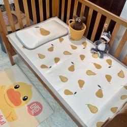 橘滋家纺 2021新款高端A类婴幼儿可水洗冰丝凉席 大吉大梨