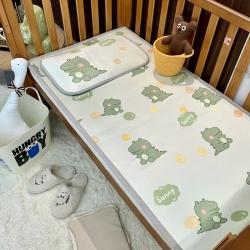 橘滋家纺 2021新款高端A类婴幼儿可水洗冰丝凉席 泡泡恐龙