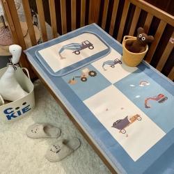 橘滋家纺 2021新款高端A类婴幼儿可水洗冰丝凉席 挖掘机