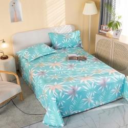 (总)春旺 2021新款全棉床单款三件套
