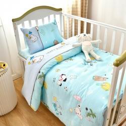(总)乐豆苗幼儿园A类三件套纱布床品婴儿床上三件套
