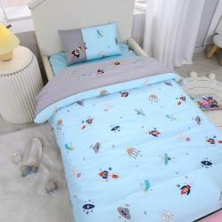 (总)乐豆苗幼儿园A类三件套纱布婴儿床上三件套