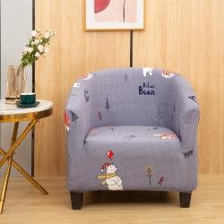 骏兴 2021新款U型圈椅沙发套 圣诞熊