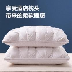 俏宫廷跑量款全棉扭花枕芯仿扭花羽绒枕头填充2斤羽丝绒常年有货