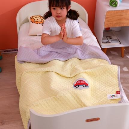 美真宝贝 新款幼儿园夏被儿童夏被午睡被空调夏凉被用 黄色汽车